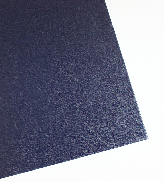 dark blue imitation leather cover