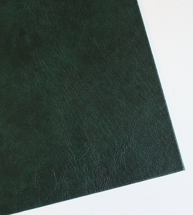 green imitation leather cover